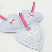 Three lavender scented hearts