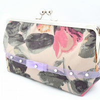 Silk evening bag