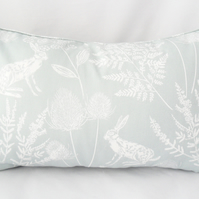 Rectangular cushion in duck egg blue