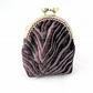 Luxury purple velvet coin purse