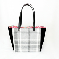 Black and grey tote