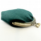 Green velvet coin purse