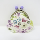 Floral coin purse with bobble clasp