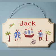 Child's Name Sign with Pirates Theme