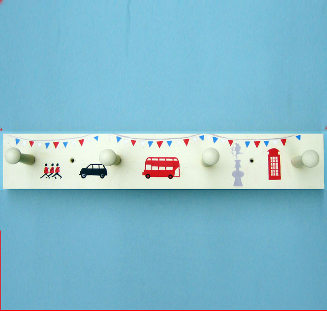 Coat Rack with London Icon design