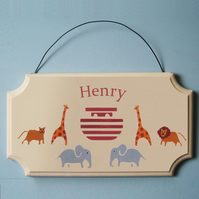 Noah's Ark Name Sign, Door Hanger