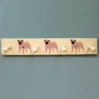 Pug Dog Coat Rack