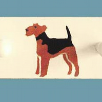 Airedale Terrier coat rack.