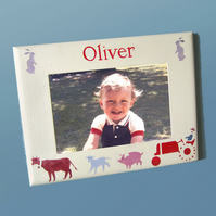 Boy's Gift, Farm Personalised Photo-Frame