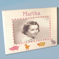 Cute Farm Animals, Personalised Photo-Frame