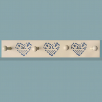 Heart Motifs Coat Rail