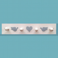 Heart and Dove Coat Rack