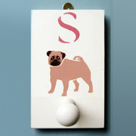 Pug Dog Coat Hook