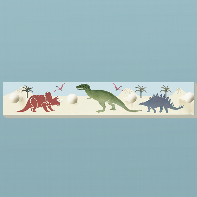 Dinosaurs,Wooden Clothes Rack,  Nursery Decoration