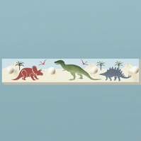 Dinosaurs, Nursery Clothes Rack, Wooden Peg Board,