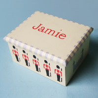 Christening Gift, Soldiers Keepsake Box