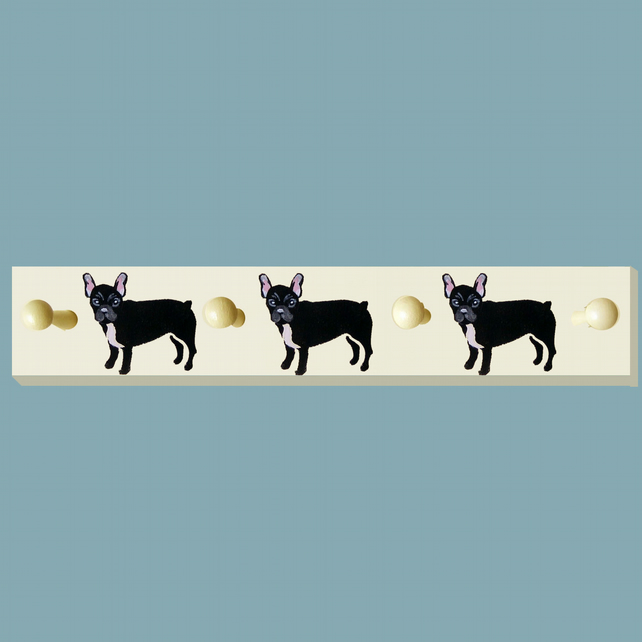 French Bulldog Coat Rack, Peg Board