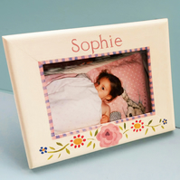 Girl's Personalised Photo Frame with Gypsy Roses
