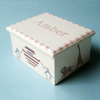 Child's Personalised Keepsake Box, Noah's Ark, Christening Gift