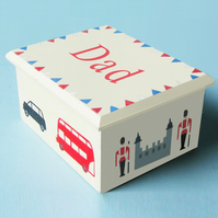 Father's Gift, London Icons, Keepsake Box, Cuff Link Box.