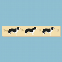 Border Collie Peg Rail, Coat Rack.