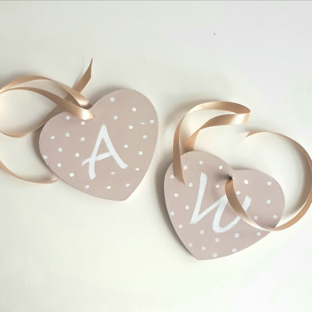 Two Hearts and Ribbon, Cot Decoration
