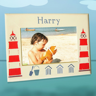 Personalised Holiday Photo-Frame, with Lighthouses