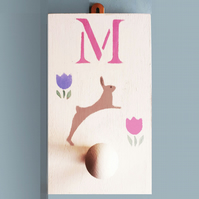 Rabbit Peg, Personalised Nursery Gift