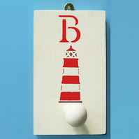 Lighthouse Peg, Personalised Nursery Decor