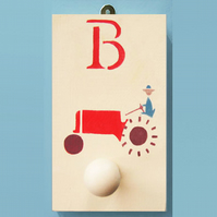 Big Red Tractor, Personalised Peg