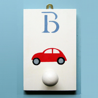 Beetle Car, Personalised Coat Hook