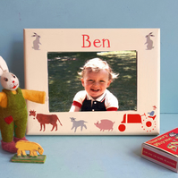 Farm Theme, Personalised Photo-Frame