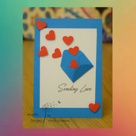 Handmade Card Sending Love