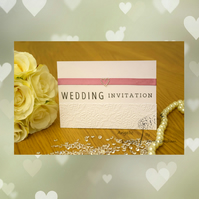 Handmade Card Wedding Invitation, Order Of Service, Evening Invitation REmb