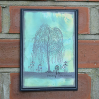 Handmade Card Willow Tree  A5