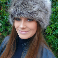Faux Mink Short Pile Faux Fur Hat- with Cosy Polar Fleece Lining-Ladies Winter H