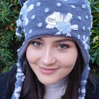 Snowflake 'Trish' Boucle Hat with Polar Fleece Lining