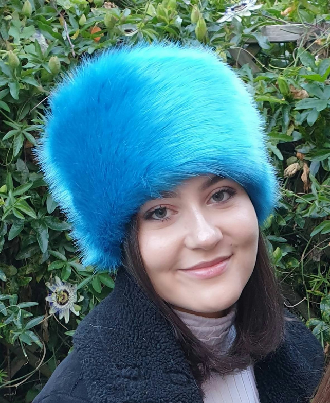 Stunning Peacock Blue Luxury Short Pile Faux Fur With Fleece Lining