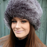 Tawny Owl Faux Fur Hat with Cosy Polar Fleece Lining.
