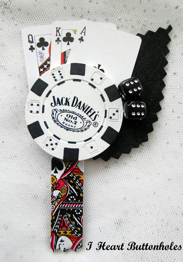 Las Vegas - Poker Chip - Card Playing Fan Butt... - Folksy