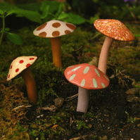 Fairy Tale Mushrooms **Set of Four**