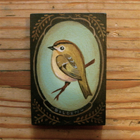 Pocket Painting: Goldcrest
