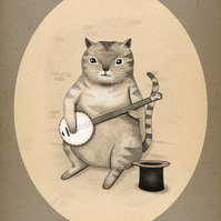Cat and a Banjo