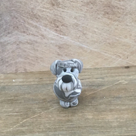 Little schnauzer terrier dog clay figure dog lovers gift fur baby