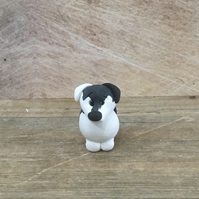 Little Border Collie clay figure dog lovers gift fur baby