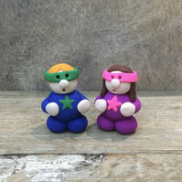 Superhero clay figure Mothers Day Fathers Day birthday gift