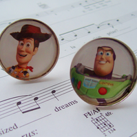 Woody and Buzz Toy Story Kitsch Cufflinks