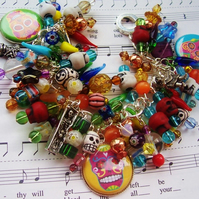 Mexican Day of the Dead Sugar Skulls Charm Bracelet