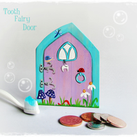 Tooth Fairy Door, hand painted onto wood, whimsical and magical for Children