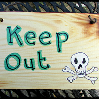Keep Out Plaque